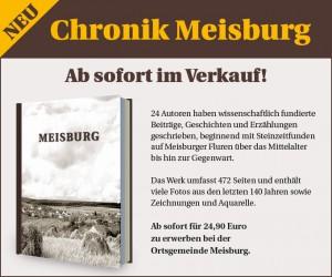 Die neue Meisburger Chronik - erhältlich für 24,90 € bei der Ortsgemeinde Meisburg.